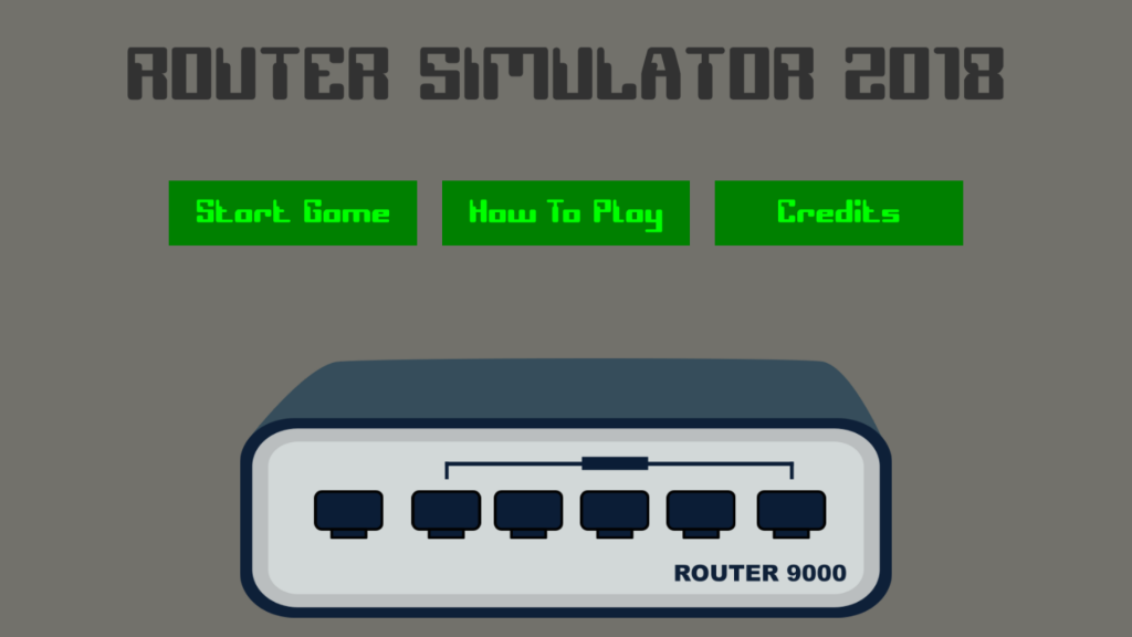 Router Simulator 2018 - Title Screen